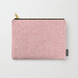 Melange - White and Coral Pink Carry-All Pouch