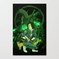 ripley Canvas Prints featuring Ripley by Ginger Breo