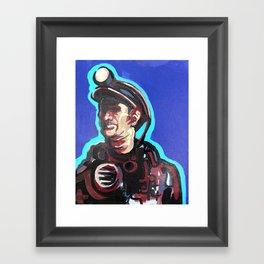 West Virginia Coal Miner Framed Art Print