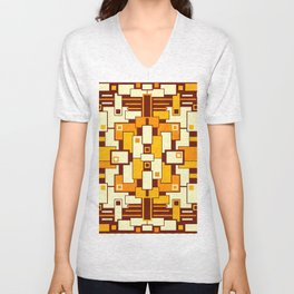 C13D GeoAbstract Unisex V-Neck