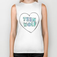 teen wolf Biker Tanks featuring TEEN WOLF by Sara Eshak