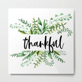 thankful floral Metal Print