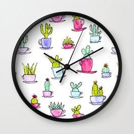 Cactime for Tea Wall Clock