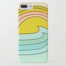 daydreams glassy swells and sunrise radiate by surfy birdy iPhone Case