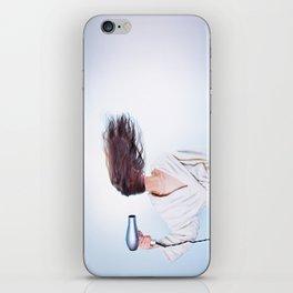 hair comic wind 4 iPhone Skin