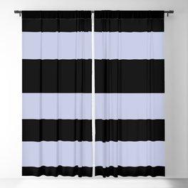 Illuminated Violet - Twilight Mist - Carousel Purple Hand Drawn Fat Horizontal Lines On Black Blackout Curtain