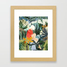 The Distracted Reader Framed Art Print