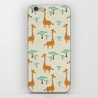 giraffes iPhone & iPod Skins featuring Giraffes by BlueLela