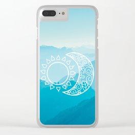 SUN & MOON V2 Clear iPhone Case