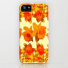 CREAM COLOR GOLDEN DAFFODILS GARDEN ART DESIGN iPhone Case