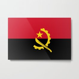 Flag of Angola Metal Print