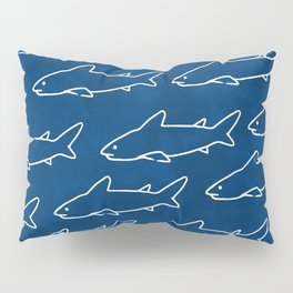 Navy Shark Under the Sea Pillow Sham