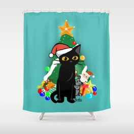 Too excited Shower Curtain