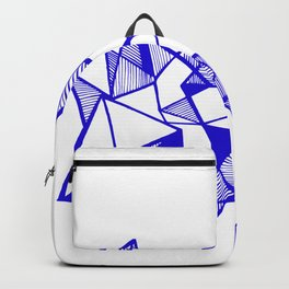 Geometric triangle popart minimal Backpack