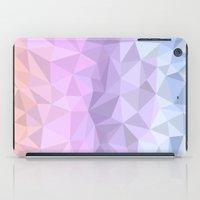polygon iPad Cases featuring pastel polygon by artsimo