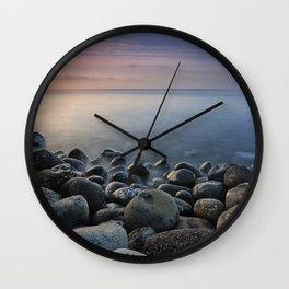 Volcanic ocean at sunrise. Santiago Beach. La Gomera Island Wall Clock