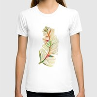 feather T-shirts featuring Feather by Klara Acel