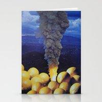 lemon Stationery Cards featuring Lemon by John Turck