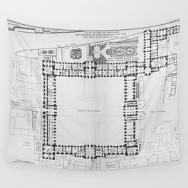 Louvre plan Wall Tapestry