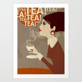 Tea. Art Print