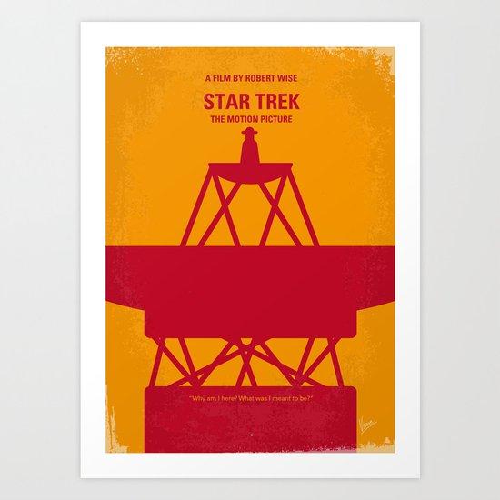 No081 My Star Trek 1 minimal movie poster Art Print