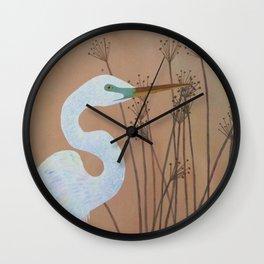 Unicorn Egret Wall Clock