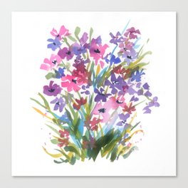 Lavender Mini Fleurs Canvas Print