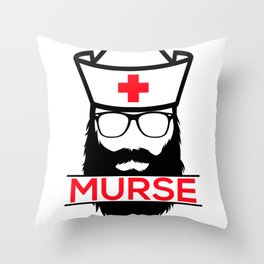 Murse Male Nurse Hospital Health Care Throw Pillow
