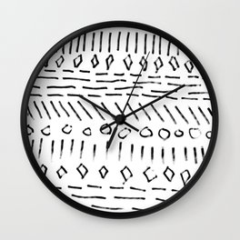 Dry Brush Sampler Wall Clock