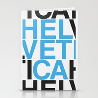 helvetica Stationery Cards featuring Helvetica  by Mackaays