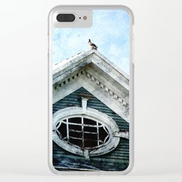 The Pigeon Above The Attic and On the Roof Clear iPhone Case