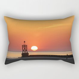 Sinking into the sea Rectangular Pillow