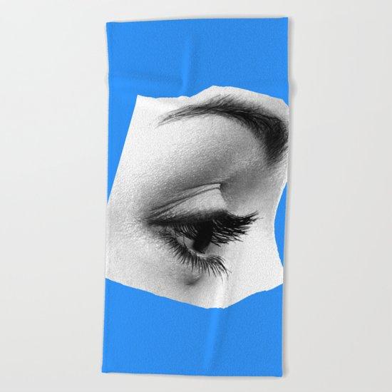 Somber blues Beach Towel