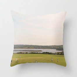 A Very English Scene. Throw Pillow