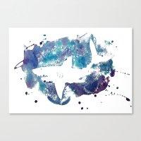 shark Canvas Prints featuring Shark by Vanishing Fin