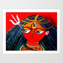 Durga, The Warrior Goddess 2: Commissioned art Art Print