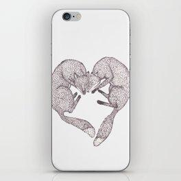 Fox Heart iPhone Skin