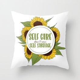 Self Care Throw Pillow