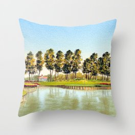 Sawgrass TPC Golf Course 17th Hole Throw Pillow