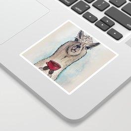 Just a Llama & His Latte Sticker