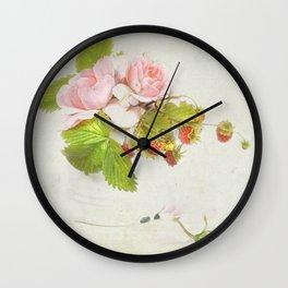 roses & berries N°3 Wall Clock
