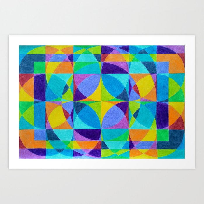 The 'Cross of Light' Effect Art Print