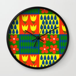 Spring cleaning Wall Clock