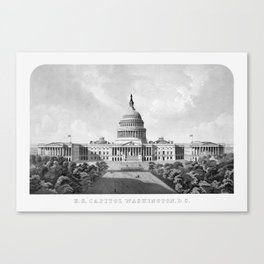 US Capitol Building - Washington DC Canvas Print