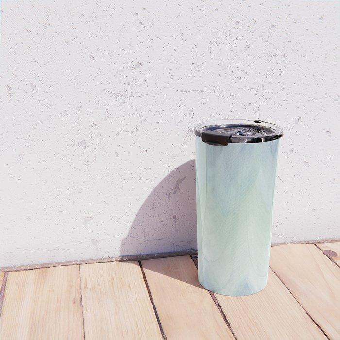 Modern geometrical pastel blue mint green watercolor ikat Travel Mug