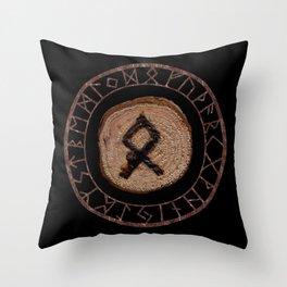 Othala Rune ancestral property, one's homeland or a sense of physical, mental, emotional, spiritual Throw Pillow