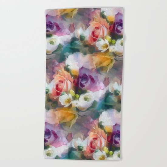 Fresh spring floral pattern Beach Towel