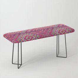 N118 - Pink Colored Oriental Traditional Bohemian Moroccan Artwork. Bench