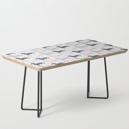 Doxie Love - Grey and Pink Coffee Table