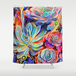Escheveria Delight Shower Curtain